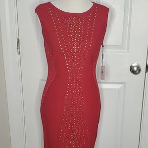 NWT Brand new Calvin Klein Bodycon dress Red M